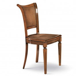 Sedia schiena e sedile in paglia