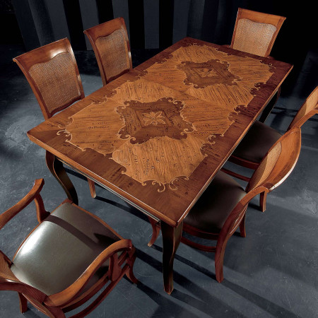 Tavolo classico in legno 160/320x90