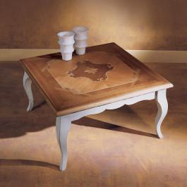 Tavolino 90x90 intarsio venezia
