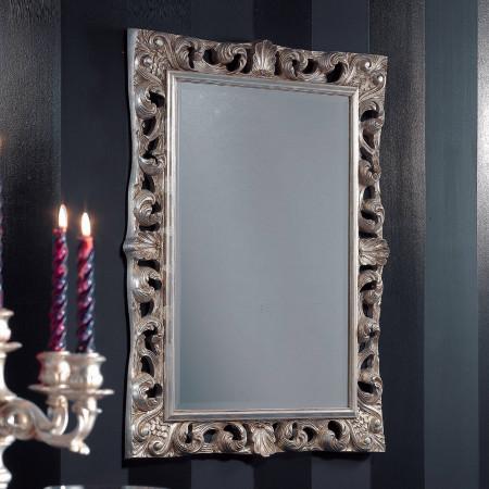 Specchiera barocca finitura con foglia argento