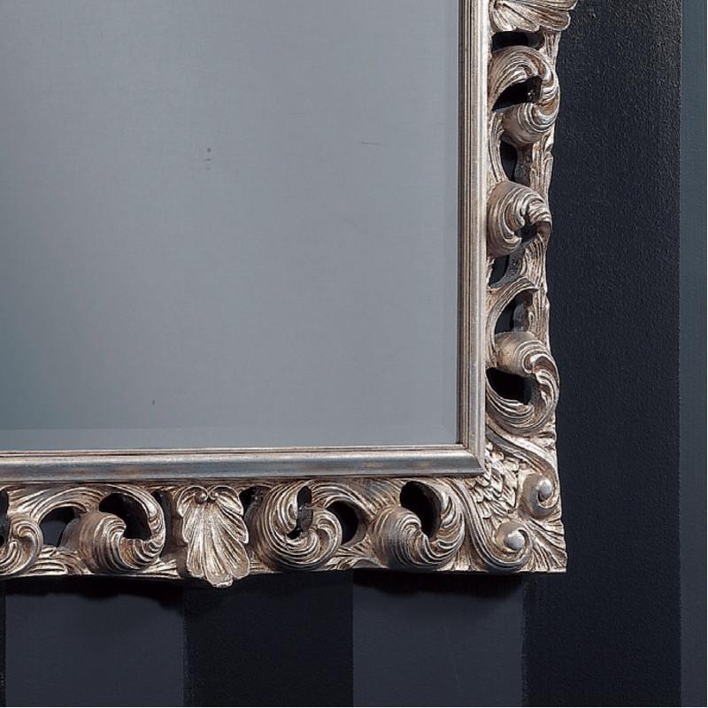 Specchiera barocca finitura con foglia argento for Specchiera barocca