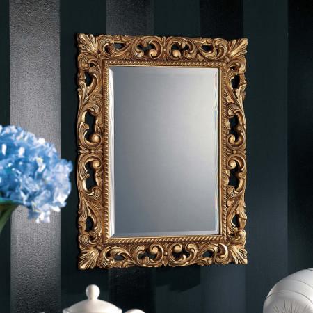 Specchiera lavorata con foglia oro