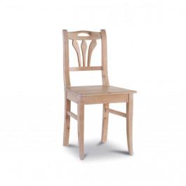 Sedia in abete con fondo in legno