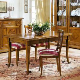 Tavolo classico in legno allungabile 170/250x90