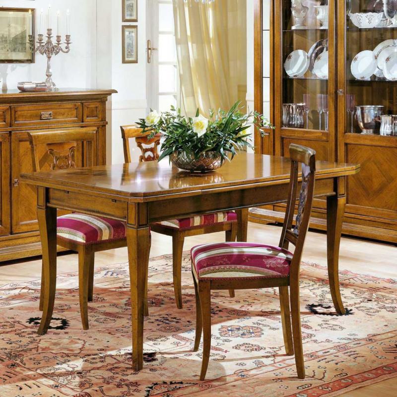 Tavolo classico in legno allungabile 170 250x90 for Tavolo classico