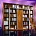 Libreria finitura con cornice intagliata