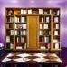 Libreria con cornice argentata