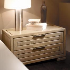 Comodino 2 cassetti legno di frassino