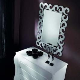 Specchiera in foglia argento