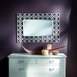 Specchiera con rombi specchio molato