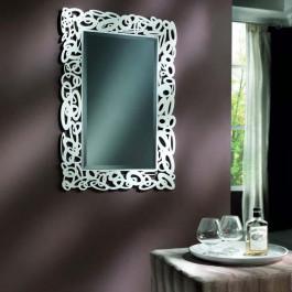 Specchiera floreale specchio molato