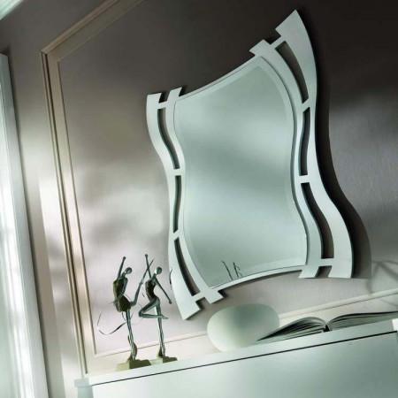 Specchio molato con cornice sagomata