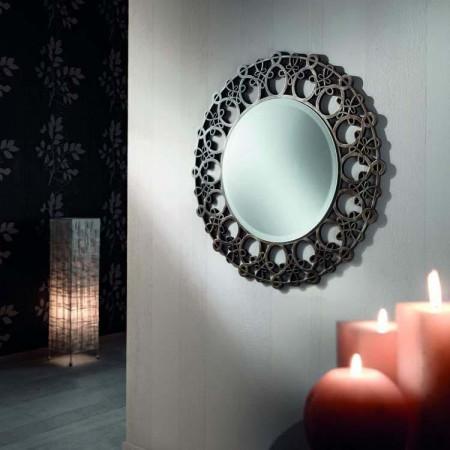 Specchio rotondo con nodi
