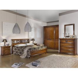 Camera da letto armadio pannelli legno