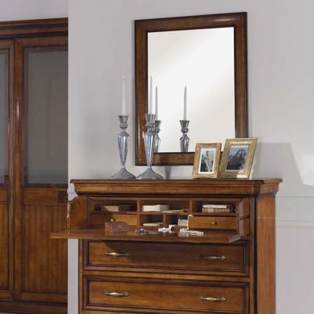 Specchiera rettangolare con specchio