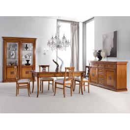 Sala da pranzo classica argentiera legno