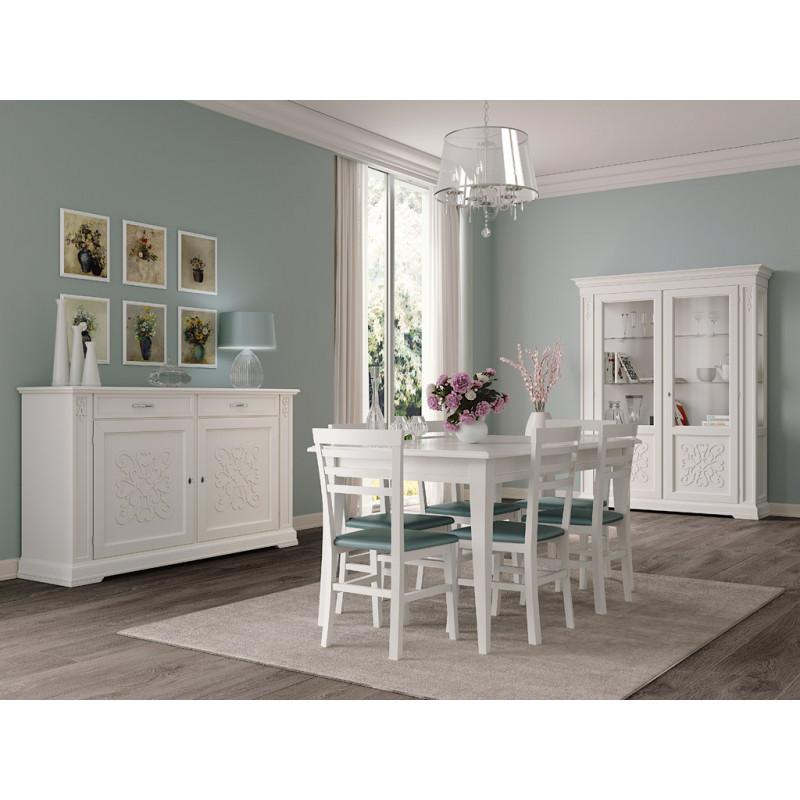 Sala da pranzo classica con tavolo quadrato - Arredare sala da pranzo classica ...