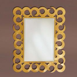 Specchiera finitura in foglia oro