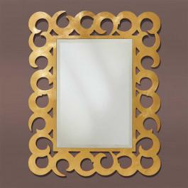 Specchiera foglia oro specchio molato
