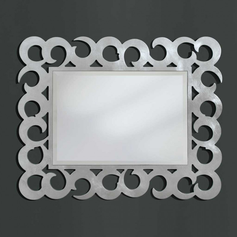 Specchiera foglia argento specchio molato