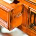 Scrivania 5 cassetti con piano ecopelle