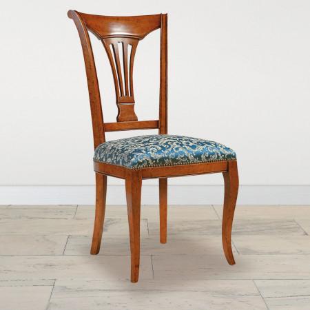 Sedia con arpa 3 fori fondino imbottito in tessuto