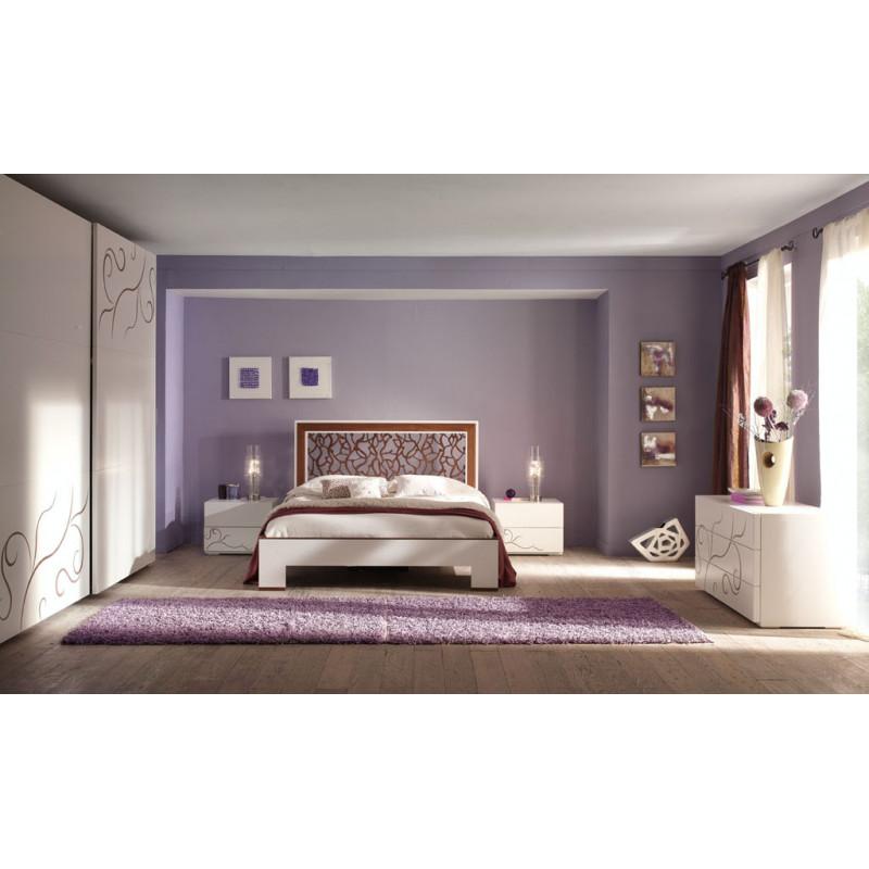 Camera da letto moderna rilievo noce for Camera da letto singola moderna