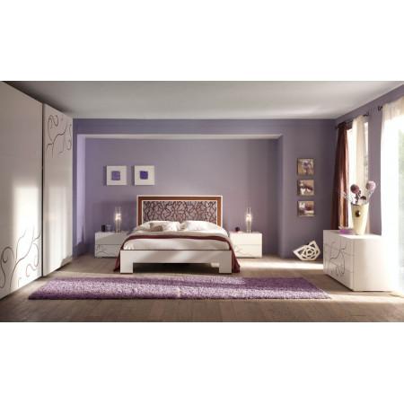 Camera da letto moderna rilievo noce