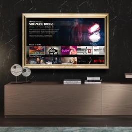Cornice oro o argento su misura per TV