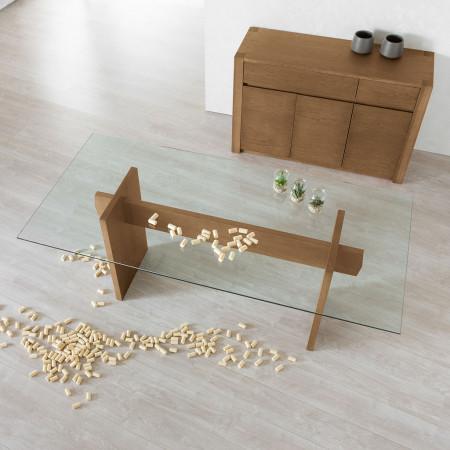 Tavolo Moderno Legno E Vetro.Tavolo Moderno In Legno E Vetro