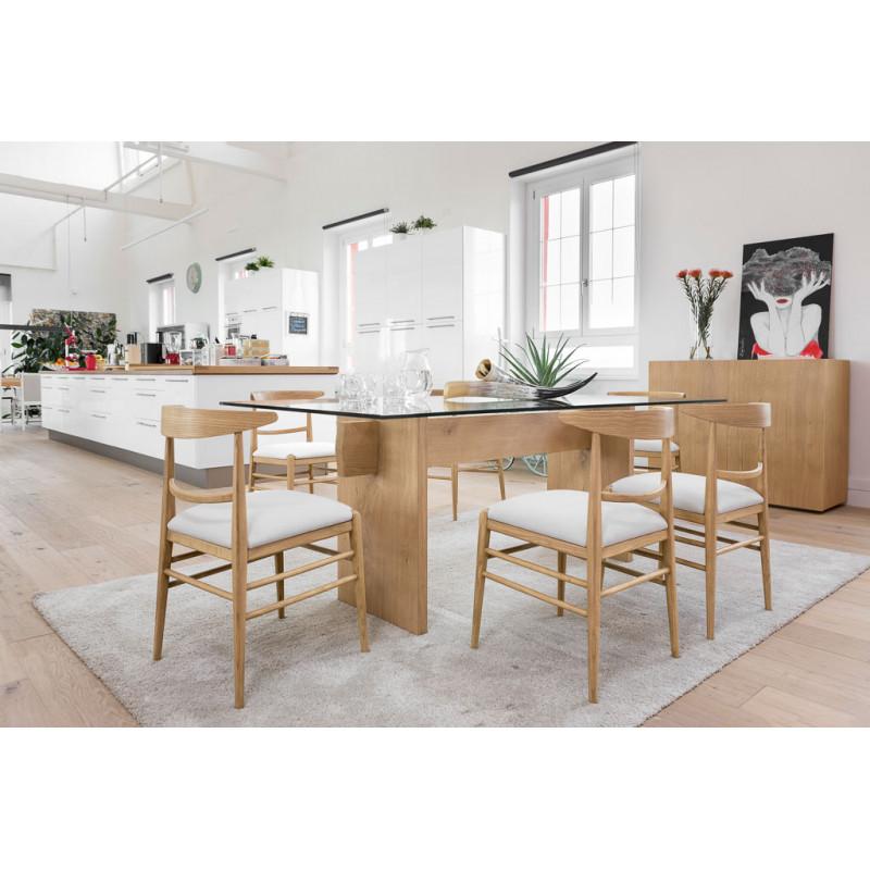 Tavolo moderno in legno e vetro for Tavolo legno moderno