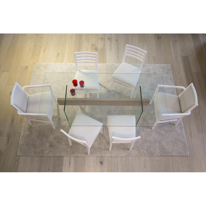 Tavolo moderno in vetro e legno - Tavolo legno e vetro ...