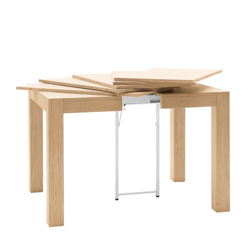Tavolo quadrato in rovere allungabile 90 340x90 - Tavolo quadrato allungabile design ...