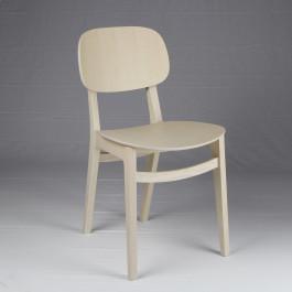 Sedia in frassino con seduta in legno