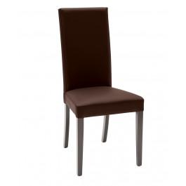 2 sedie ecopelle marrone con fusto wenge
