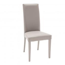 2 sedie ecopelle grigia con fusto grigio