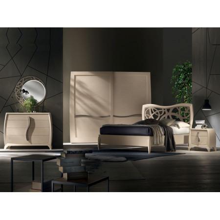 Camera da letto contemporanea in legno