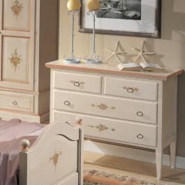 Como' bianco decorato con filo rosa