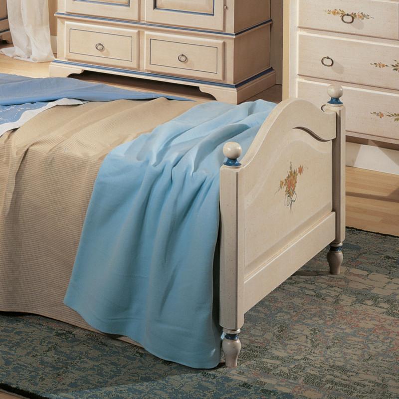 Letto singolo bianco filo azzurro - Sponde letto singolo ...