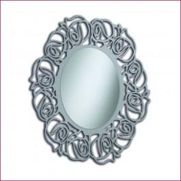 Specchiera ovale laccata