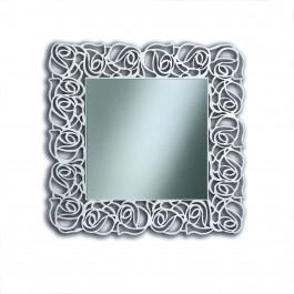 Specchiera quadrata laccata bianca