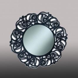 Specchio rotondo laccato antracite