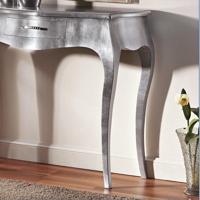 Consolle con foglia argento maniglia swarovski