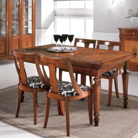 Tavolo con serrandina allungabile 160/250