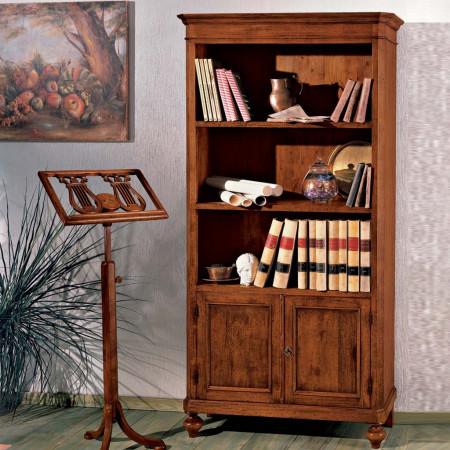Libreria in legno con 2 porte 2 ripiani