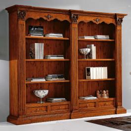 Libreria classica smontabile 4 cassetti