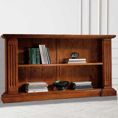 Libreria classica in legno a giorno