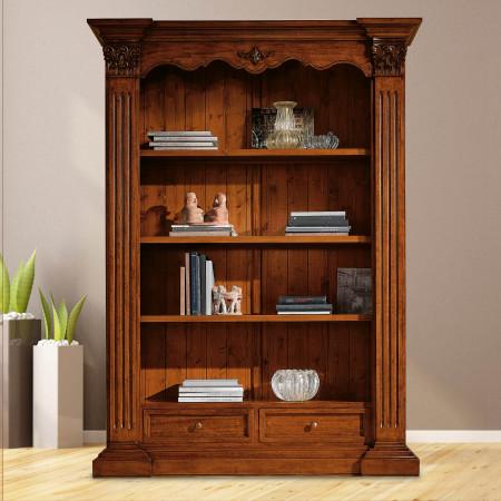 Libreria classica in legno intagliata