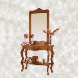 Consolle con specchiera e pianetto