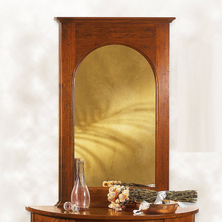 Specchiera classica con cimasa sagomata